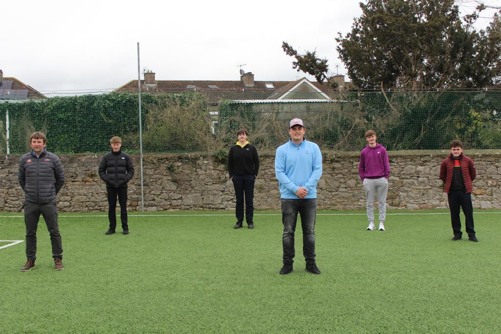 James Sugrue visits LCVP class & Golf team.