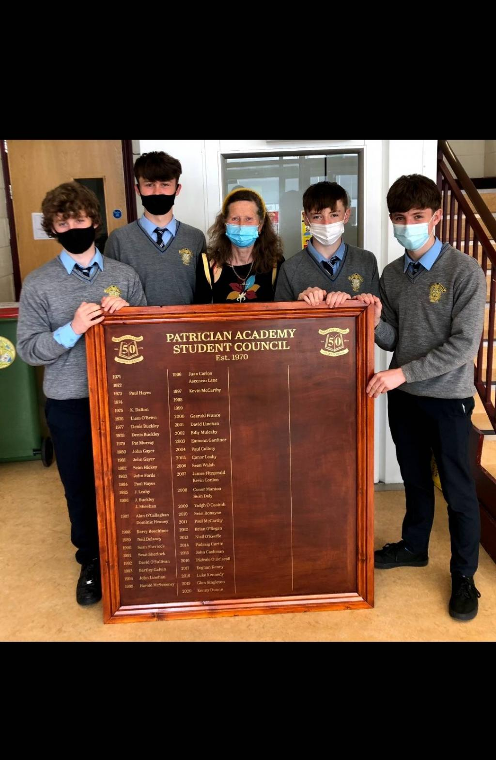 Student Council Honours Board