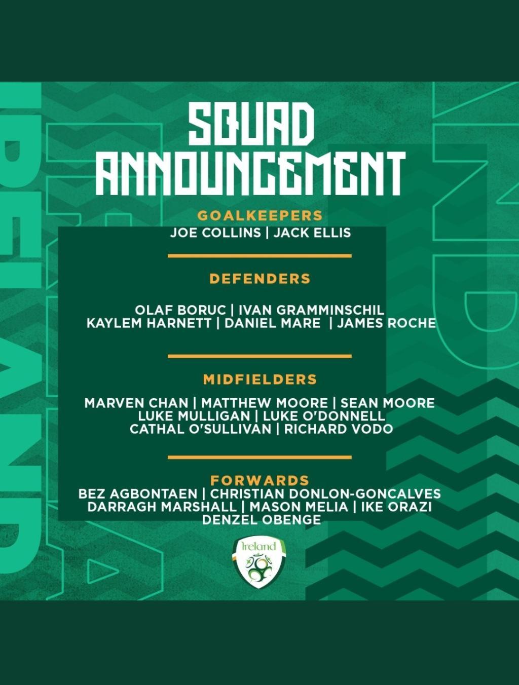 Denzel Obenge makes Irish u15 squad